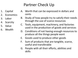 Partner Check Up