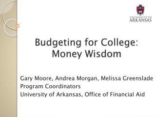 Budgeting for College: Money Wisdom