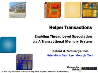 Enabling Thread Level Speculation via A Transactional Memory System