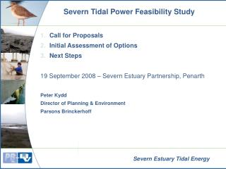 Severn Tidal Power Feasibility Study