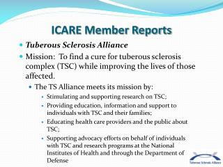 ICARE Member Reports