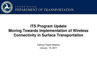 Talking Freight Webinar January  19, 2011