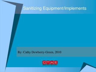 Sanitizing Equipment/Implements