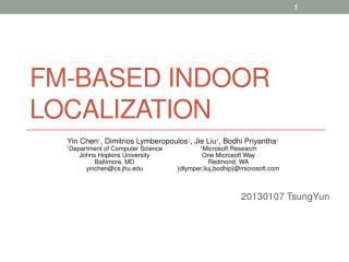 FM-based Indoor Localization