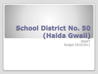 School District No. 50  (Haida Gwaii)