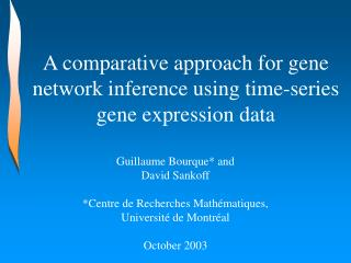 A comparative approach for gene network inference using time-series gene expression data
