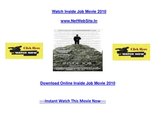 Inside Job Movie Free Online Review