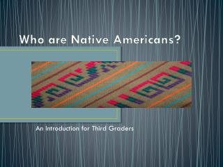 Who are Native Americans?