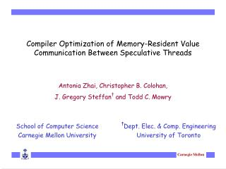 Compiler Optimization of Memory-Resident Value Communication Between Speculative Threads