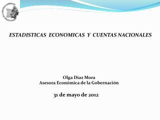 ESTADISTICAS  ECONOMICAS  Y  CUENTAS NACIONALES