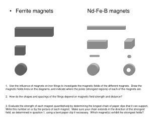 Ferrite magnets         Nd-Fe-B magnets