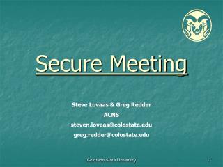 Secure Meeting