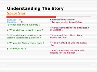 Understanding The Story Space Star
