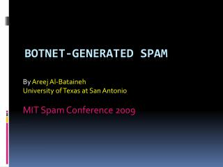 Botnet-generated Spam