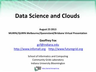Data Science and  Clouds