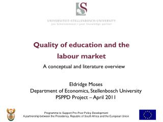 Quality of education  and the  labour  market
