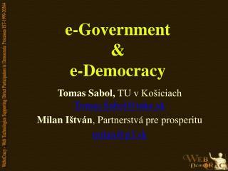 e-Government & e-Democracy