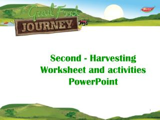 Second -  Harvesting   Worksheet and activities PowerPoint