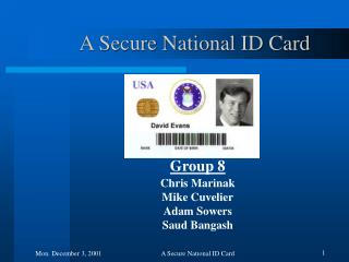 A Secure National ID Card