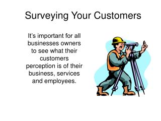 Surveying Your Customers