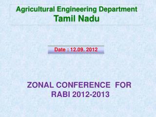 Agricultural Engineering Department Tamil Nadu