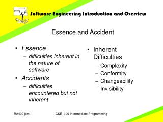 Essence and Accident