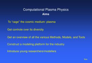 Computational Plasma Physics