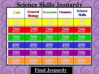 Science Skills Jeopardy