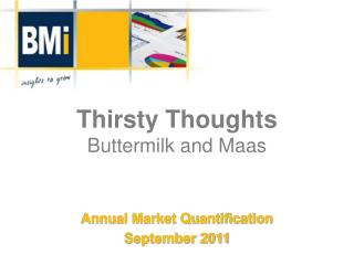 Thirsty Thoughts Buttermilk and Maas