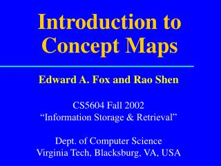Introduction to Concept Maps