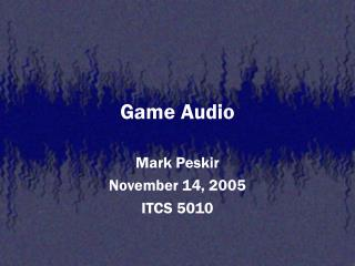 Game Audio