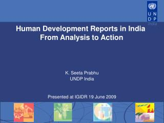 Human Development Reports in India  From Analysis to Action