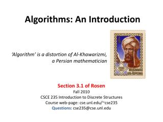 Algorithms: An Introduction