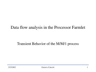 Data flow analysis in the Processor Farmlet