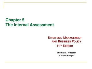 Chapter 5 The Internal Assessment