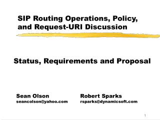 SIP Routing Operations, Policy, and Request-URI Discussion