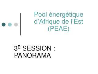 Pool �nerg�tique d�Afrique de l�Est (PEAE)