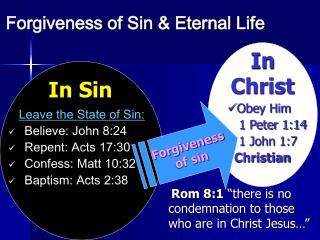 Forgiveness of Sin  Eternal Life