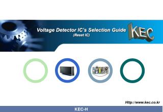 Voltage Detector IC's Selection Guide (Reset IC)