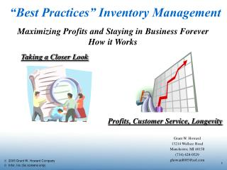 """Best Practices"" Inventory Management"