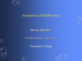 Animation of Bubble Sort