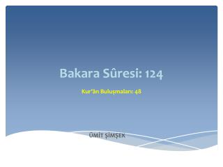 Bakara Sûresi: 124