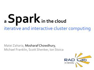 a  Spark  in the cloud