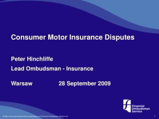 Consumer Motor Insurance Disputes