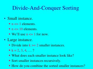 Divide-And-Conquer Sorting