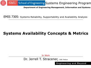 Systems Availability Concepts & Metrics