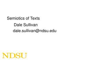 Semiotics of Texts