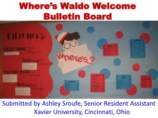 Where's Waldo Welcome Bulletin Board