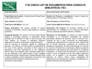 F-25 CHECK LIST DE DOCUMENTOS PARA CONSULTA  (BIBLIOTECA)  731