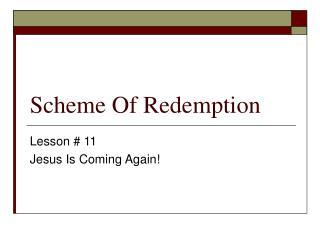 Scheme Of Redemption